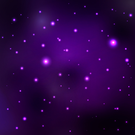 galaxies: Purple space nebula. abstract space background with stars, distant galaxies and planets