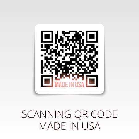 qrcode: sample qr code ready to scan. made in USA.