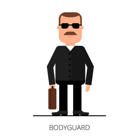 bodyguard: Bodyguard with a briefcase. Security of a jacket. VIP protection