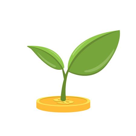 Money tree icon. flat illustration isolated on white background