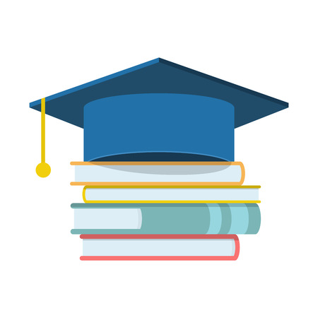 web cap: Graduation cap and book icon, Graduation cap and book web icon, Graduation cap and book icon, Graduation cap and book isolated icon, Graduation cap and book icon illustration