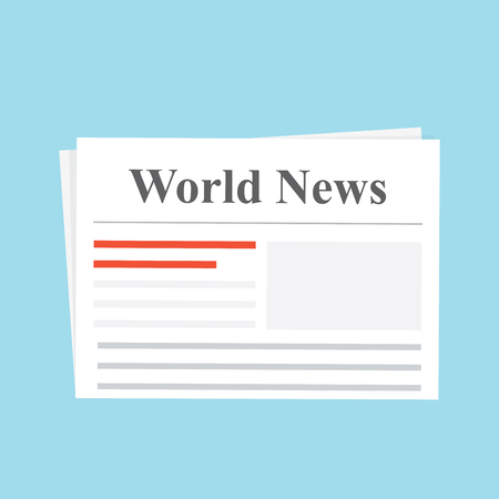 world news: Newspaper. World News. The daily edition Flat illustration Illustration