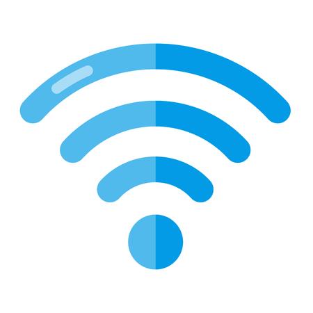 Wireless Network Symbol Isolated On White Background. Flat vector Illustration Illustration