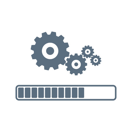 Update system icon vector. Loading process. Modern flat design vector illustration. Concept of upgrade application progress icon, for graphic and web design. Installation of application or software.