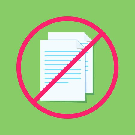 Rejection of documents. Stack of documents. Can use for web banner, infographics, hero images. Flat illustration.
