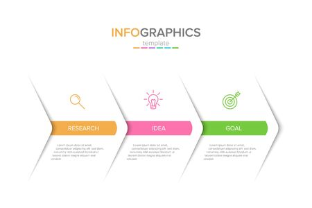Vector infographic label template with icons. 3 options or steps. Infographics for business concept. Can be used for info graphics, flow charts, presentations, web sites, banners, printed materials.
