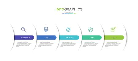 Vector infographic label template with icons. 5 options or steps. Infographics for business concept. Can be used for info graphics, flow charts, presentations, web sites, banners, printed materials. Stockfoto - 127917347
