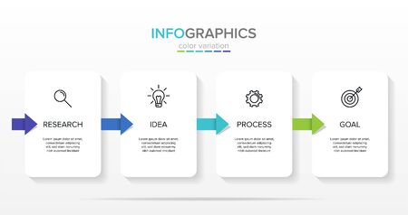 Vector infographic label template with icons. 4 options or steps. Infographics for business concept. Can be used for info graphics, flow charts, presentations, web sites, banners, printed materials.