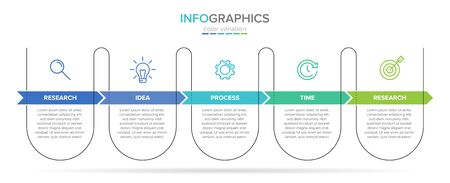 Vector infographic label template with icons. 5 options or steps. Infographics for business concept. Can be used for info graphics, flow charts, presentations, web sites, banners, printed materials Stockfoto - 128059730