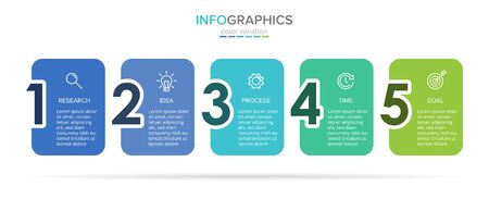 Vector infographic label template with icons. 5 options or steps. Infographics for business concept. Can be used for info graphics, flow charts, presentations, web sites, banners, printed materials Stockfoto - 128339782