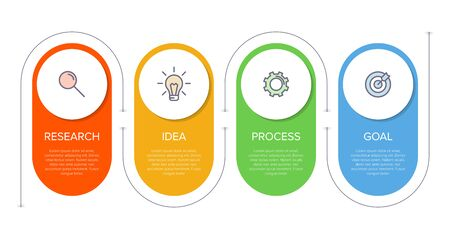 Infographic design with icons and 4 options or steps. Thin line vector. Infographics business concept. Can be used for info graphics, flow charts, presentations, web sites, banners, printed materials