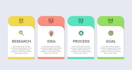 Infographic design with icons and 4 options or steps. Thin line vector. Infographics business concept. Can be used for info graphics, flow charts, presentations, web sites, banners, printed materials Vector Illustratie