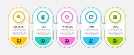 Infographic design with icons and 5 options or steps. Thin line. Infographics business concept. Can be used for info graphics, flow charts, presentations, web sites, banners, printed materials