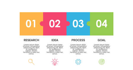 Infographic design with icons and 4 options or steps. Thin line. Infographics business concept.