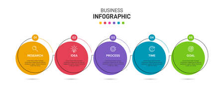 Infographic design with icons and 5 options or steps. Thin line. Infographics business concept. Can be used for info graphics, flow charts, presentations, web sites, banners, printed materials.