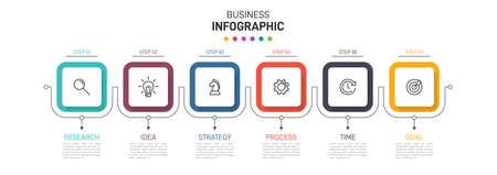 Infographic design with icons and 5 options or steps. Thin line vector. Infographics business concept. Can be used for info graphics, flow charts, presentations, web sites, banners, printed materials.