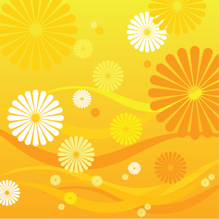 put: A lot of flower put together and make it as a flower background. Illustration