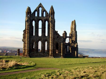 endeavor: Whitby Abbey, Whitby, Yorkshire Stock Photo