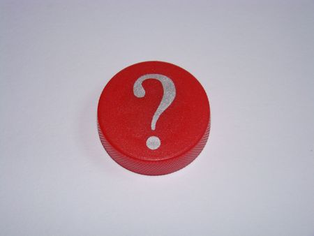 Red Question Mark on White Stock Photo - 4391442