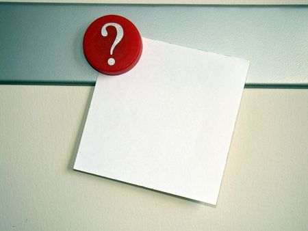 what if: Question Mark with Notepaper
