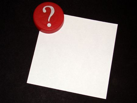 Question Mark with Notepaper Stock Photo - 4391443