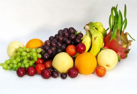 many types of fruit on a white background Stock Photo - 5502191