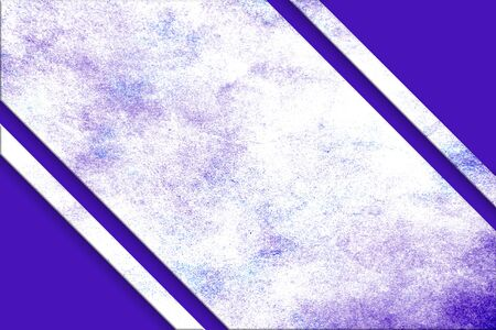 A diagonal, purple and blue splattered watercolor banner above a purple abstract corner design on opposite corners.