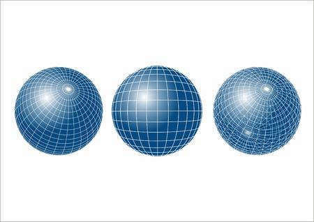 refracting: Refracting spheres. Vector.  Illustration