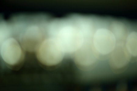 dazzled: Bokeh lights in gray, and blue green