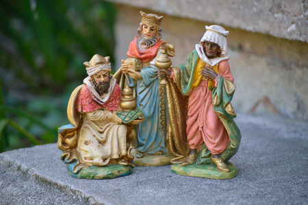 wisemen: three antique wisemen of Christs advent