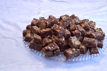 fudge: Homemade fudge candy made for the holiday.