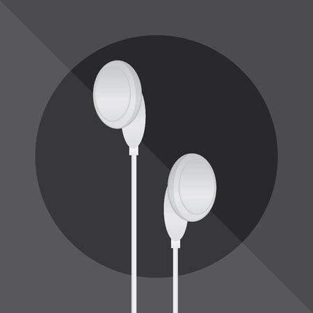 earphones: earphones on gray background