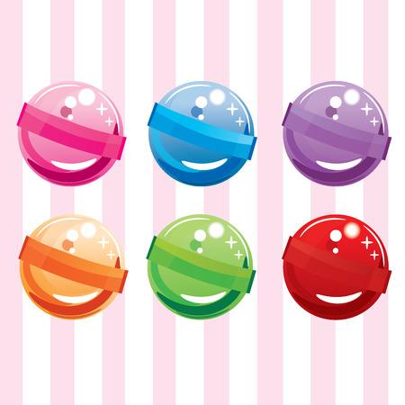 hard stuff: candies sweet vector set