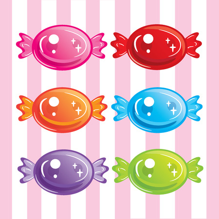 sweet colorful candies vector Ilustracja