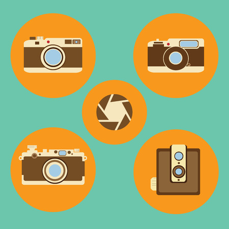 multimedia icons: Camera vector icons vector set