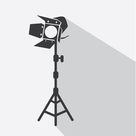 spot light tripods vector icon