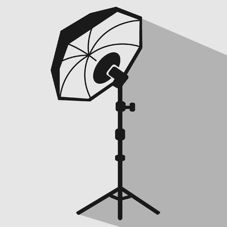 Flash umbrella equipment studio vector