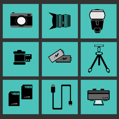 Photographic vector icons Illustration