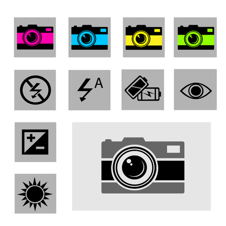 evaluative: Photography vector icon set