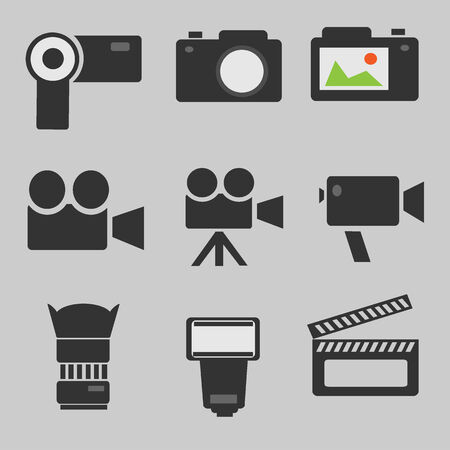 journalistic: cinema video vector icon