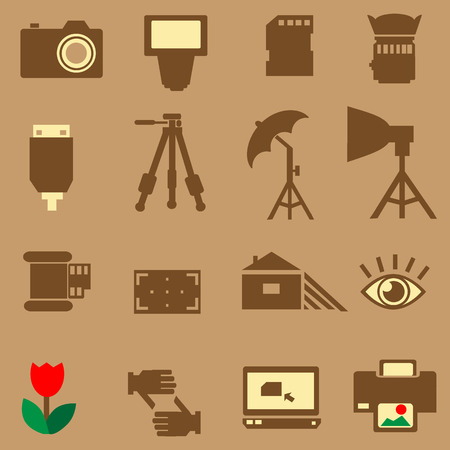 Camera photo vector icon Ilustrace
