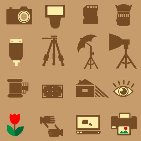 partial: Icono de la c�mara de fotos del vector Vectores