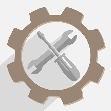 gray tools vector Illustration