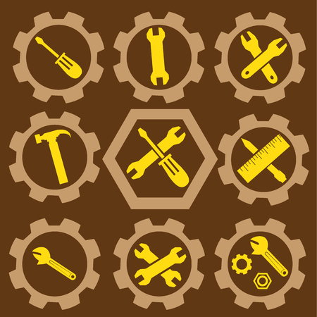 equipment tools setting vector