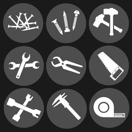 equipment tools vector icon Vettoriali