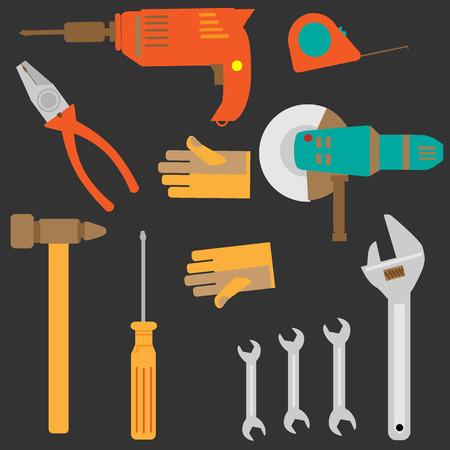 mechanic tools vector set Ilustrace