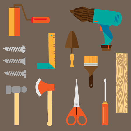 technological: technological engineering tools equipment vector set
