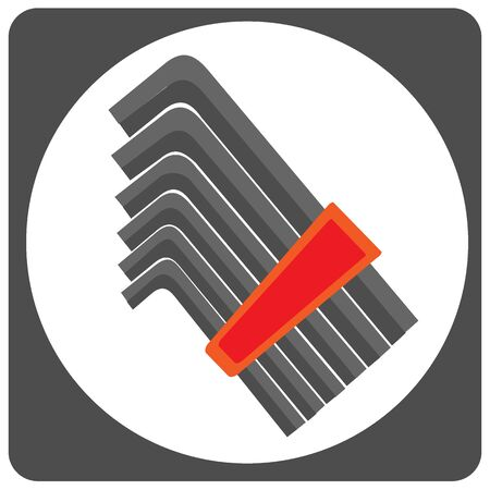 Allen key vector icon
