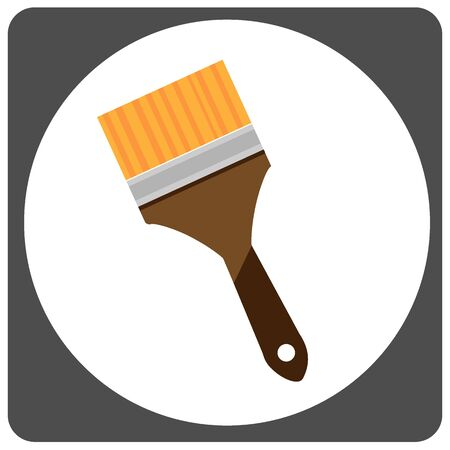 redecorate: paint brush vector icon Illustration
