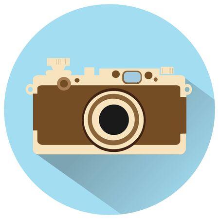 multimedia icons: vintage camera vector icon